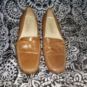 💋ANN TAYLOR  leather BLOCK HEAL LOAFER'S.size 9💋